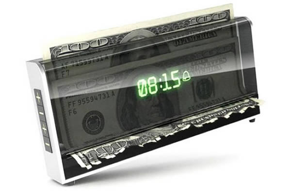 Money Shredding Alarm Clock
